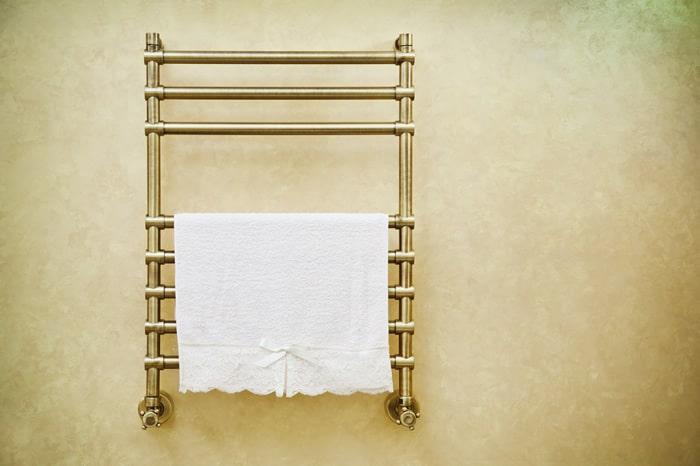 toallero vintage para cuarto de baño