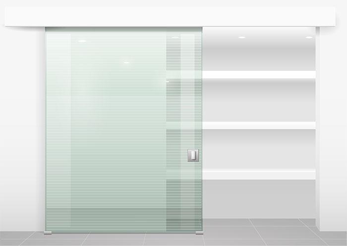 Armarios con puertas correderas en cristal transparente